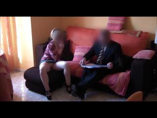 spy lady copulates commercial agent