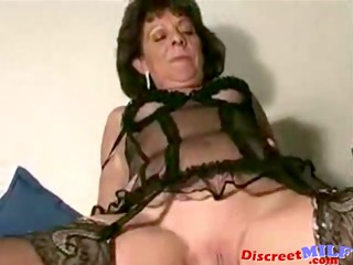 shaved grown-up lady creampie