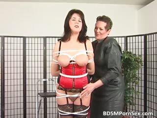bondage game where brunette horny woman