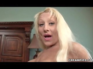 blond cougar creampie