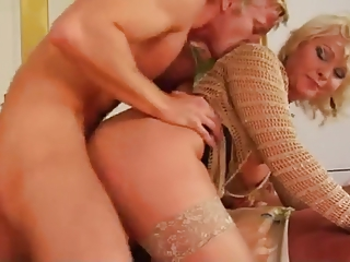 bleached lady and amateur man