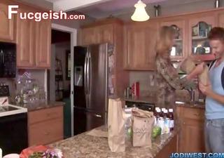 mamma and son home alone