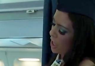 lesbian babes on a plane