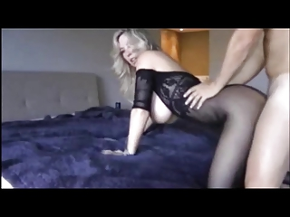 woman with huge tits make a video at house