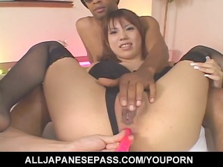horny japanese milf mei amasaki ass toyed