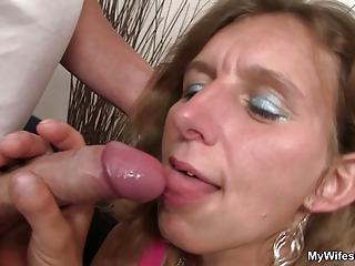 my lady watches  im piercing her milf