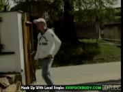 cougar aunt drives cock on zebra bed