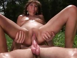 elderly likes hot sex with man al fresco