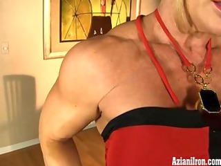 aziani iron older female bodybuilder with giant