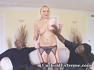 clean wife inside cuckold three people