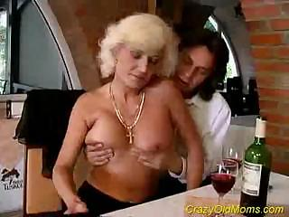 horny granny woman goes after the more juvenile