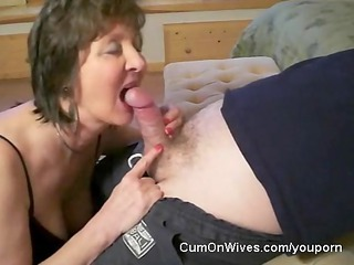 mature lady gives great head