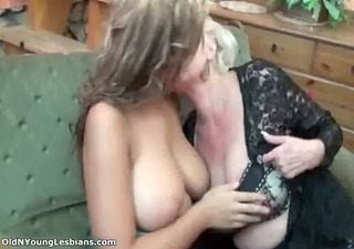 sexually excited aged lesbian blond enjoys